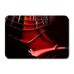 Red Black Fractal Mathematics Abstract Plate Mats