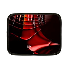 Red Black Fractal Mathematics Abstract Netbook Case (small)