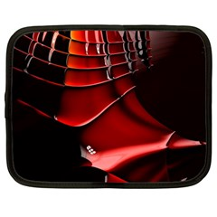 Red Black Fractal Mathematics Abstract Netbook Case (large)