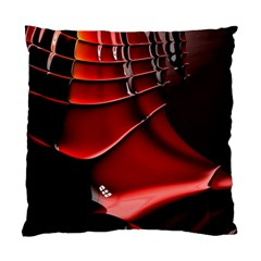 Red Black Fractal Mathematics Abstract Standard Cushion Case (one Side)