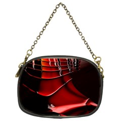 Red Black Fractal Mathematics Abstract Chain Purses (two Sides)