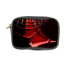 Red Black Fractal Mathematics Abstract Coin Purse