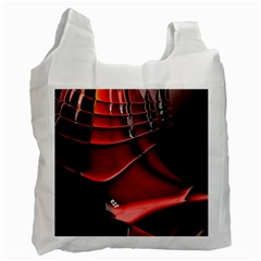 Red Black Fractal Mathematics Abstract Recycle Bag (One Side)