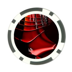 Red Black Fractal Mathematics Abstract Poker Chip Card Guard (10 Pack)