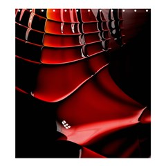 Red Black Fractal Mathematics Abstract Shower Curtain 66  X 72  (large)
