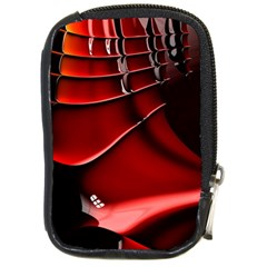 Red Black Fractal Mathematics Abstract Compact Camera Cases