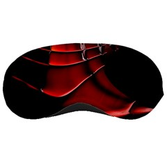 Red Black Fractal Mathematics Abstract Sleeping Masks