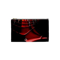 Red Black Fractal Mathematics Abstract Cosmetic Bag (small)