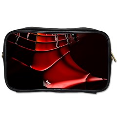 Red Black Fractal Mathematics Abstract Toiletries Bags