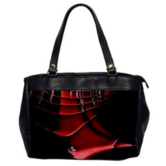 Red Black Fractal Mathematics Abstract Office Handbags