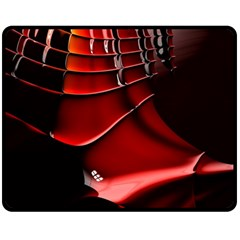 Red Black Fractal Mathematics Abstract Fleece Blanket (medium)