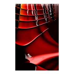 Red Black Fractal Mathematics Abstract Shower Curtain 48  X 72  (small)