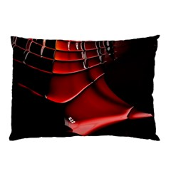 Red Black Fractal Mathematics Abstract Pillow Case (two Sides)