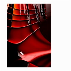 Red Black Fractal Mathematics Abstract Small Garden Flag (two Sides)