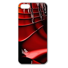 Red Black Fractal Mathematics Abstract Apple Seamless Iphone 5 Case (clear)
