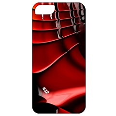Red Black Fractal Mathematics Abstract Apple Iphone 5 Classic Hardshell Case