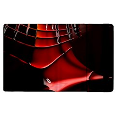 Red Black Fractal Mathematics Abstract Apple Ipad 2 Flip Case