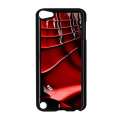 Red Black Fractal Mathematics Abstract Apple Ipod Touch 5 Case (black)