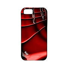 Red Black Fractal Mathematics Abstract Apple Iphone 5 Classic Hardshell Case (pc+silicone)