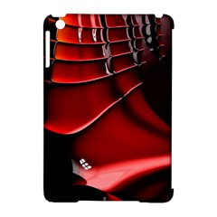 Red Black Fractal Mathematics Abstract Apple Ipad Mini Hardshell Case (compatible With Smart Cover)