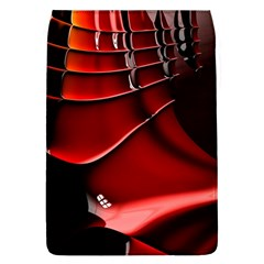 Red Black Fractal Mathematics Abstract Flap Covers (l)
