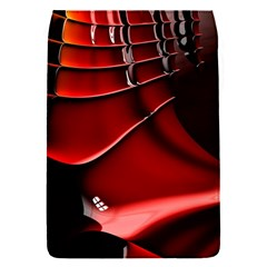 Red Black Fractal Mathematics Abstract Flap Covers (s)