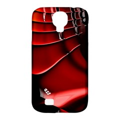 Red Black Fractal Mathematics Abstract Samsung Galaxy S4 Classic Hardshell Case (pc+silicone)