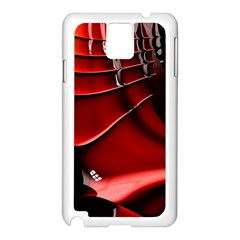 Red Black Fractal Mathematics Abstract Samsung Galaxy Note 3 N9005 Case (white)