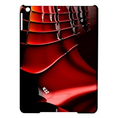 Red Black Fractal Mathematics Abstract Ipad Air Hardshell Cases