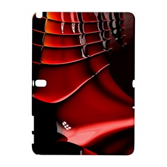 Red Black Fractal Mathematics Abstract Galaxy Note 1