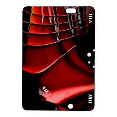 Red Black Fractal Mathematics Abstract Kindle Fire Hdx 8 9  Hardshell Case