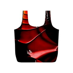 Red Black Fractal Mathematics Abstract Full Print Recycle Bags (s)