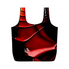 Red Black Fractal Mathematics Abstract Full Print Recycle Bags (m)