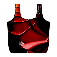 Red Black Fractal Mathematics Abstract Full Print Recycle Bags (l)