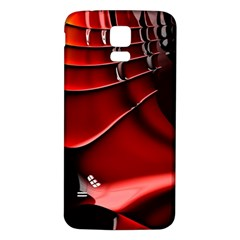 Red Black Fractal Mathematics Abstract Samsung Galaxy S5 Back Case (white)