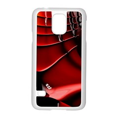 Red Black Fractal Mathematics Abstract Samsung Galaxy S5 Case (white)