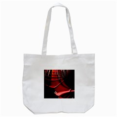 Red Black Fractal Mathematics Abstract Tote Bag (white)