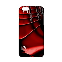 Red Black Fractal Mathematics Abstract Apple Iphone 6/6s Hardshell Case