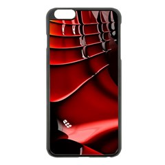 Red Black Fractal Mathematics Abstract Apple Iphone 6 Plus/6s Plus Black Enamel Case