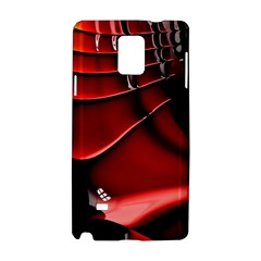 Red Black Fractal Mathematics Abstract Samsung Galaxy Note 4 Hardshell Case