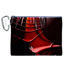 Red Black Fractal Mathematics Abstract Canvas Cosmetic Bag (xl)