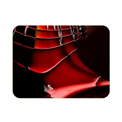 Red Black Fractal Mathematics Abstract Double Sided Flano Blanket (mini)