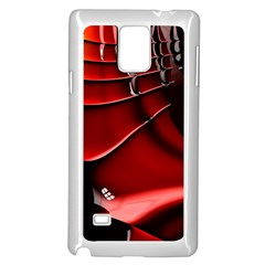 Red Black Fractal Mathematics Abstract Samsung Galaxy Note 4 Case (white)