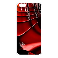 Red Black Fractal Mathematics Abstract Apple Seamless iPhone 6 Plus/6S Plus Case (Transparent)