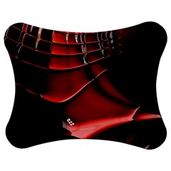 Red Black Fractal Mathematics Abstract Jigsaw Puzzle Photo Stand (bow)