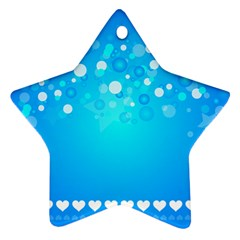 Desktop Banner Postcard Hearts Ornament (star)