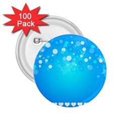 Desktop Banner Postcard Hearts 2 25  Buttons (100 Pack)