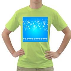 Desktop Banner Postcard Hearts Green T Shirt