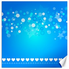 Desktop Banner Postcard Hearts Canvas 16  X 16