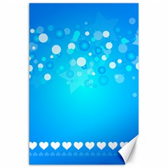 Desktop Banner Postcard Hearts Canvas 20  X 30